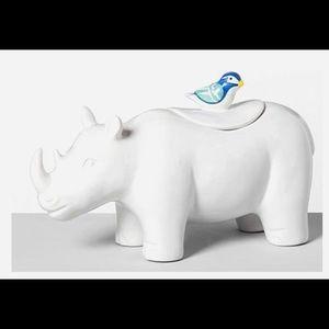 NEW Ceramic Rhino Cookie Jar by OpalHouse